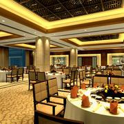 新古典风格饭店桌椅装饰