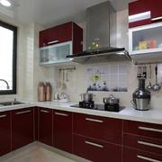 L型深色系厨房橱柜装饰