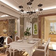 法式餐厅密集式吊顶装饰
