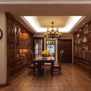 美式简约风格原木酒柜内嵌式装饰