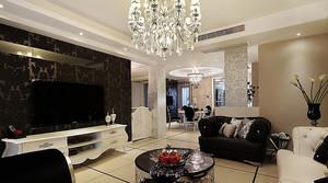 欧式客厅电视背景墙装饰
