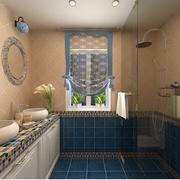 卫生间简约风格玻璃隔断装饰