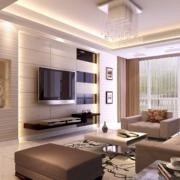 现代简约风格客厅石膏板背景墙装饰