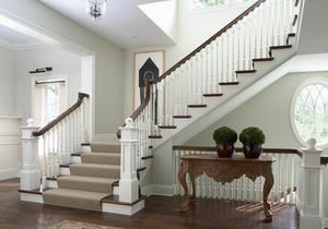 2015别墅型内部实木楼梯装修效果图