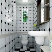 狭窄的卫生间背景墙