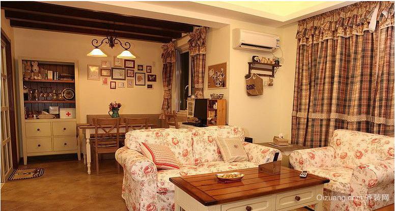 美式乡村小户型客厅装修效果图