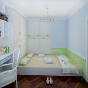 现代简约风格儿童房榻榻米装饰