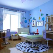 清新简约风格儿童房地板装饰
