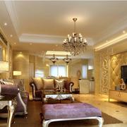欧式风格奢华客厅软包电视背景墙装饰