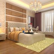 卧室简约风格暖色系墙纸装饰