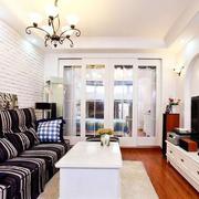 地中海客厅简约沙发背景墙装饰