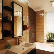 东南亚风格卫生间简约浴缸装饰