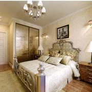 欧式卧室床头背景墙装饰
