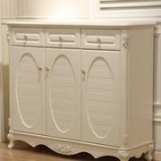 欧式风格白色系玄关鞋柜设计