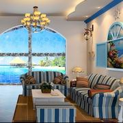 地中海客厅拱形门装饰