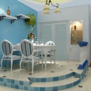 地中海风格餐厅置物架装饰