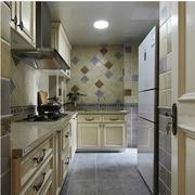 法式厨房简约风格瓷砖装饰