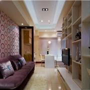 50平米小户型简约风格沙发背景墙装饰