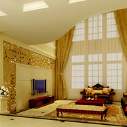 欧式风格挑空客厅电视背景装饰