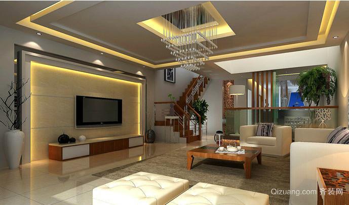 2015别墅客厅装修效果图