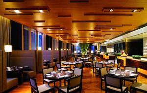 中式风格简约饭店吊顶装饰