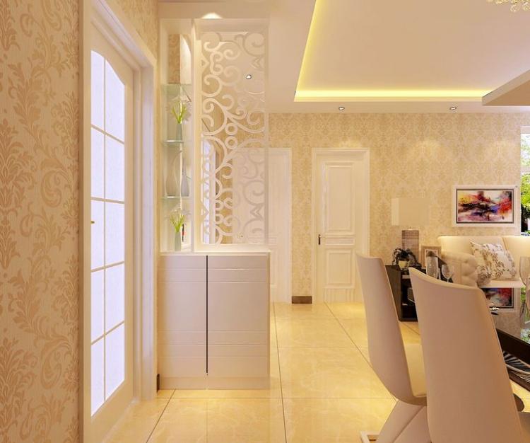 2015 别墅 型欧式客厅 玄关隔断 装修 效果图 齐装