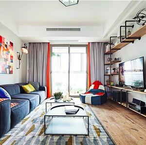 公寓混搭风格客厅沙发装饰