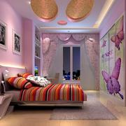 儿童房紫色系墙饰装饰