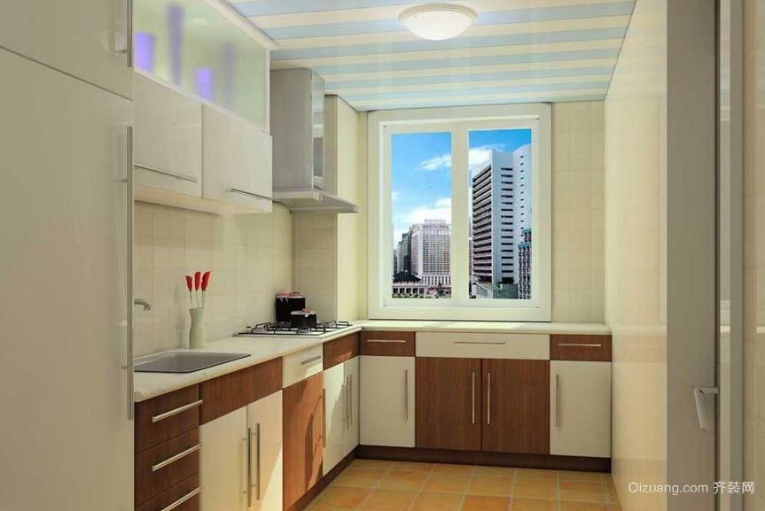 90平米欧式厨房整体橱柜装修效果图