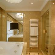 卫生间暖色瓷砖装饰效果图