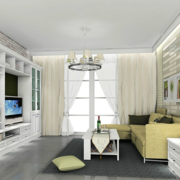 现代简约风格客厅飘窗装饰