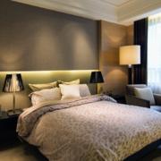 卧室简约灯饰装饰效果图