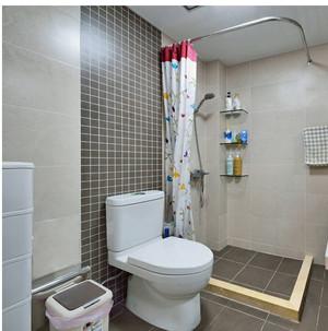 2室1厅1卫的简洁日式风格装修效果图