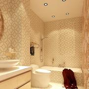 欧式风格卫生间背景墙装饰