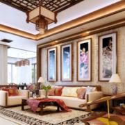 大户型新中式别墅装饰画