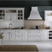 开放式一字型厨房橱柜