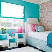 北欧风格清新纯色卧室壁纸装饰