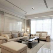 素雅米白色的客厅