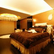 现代简约风格纯色卧室壁纸装饰