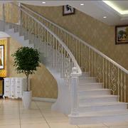 白色简洁的楼梯