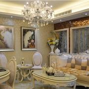 欧式奢华客厅背景墙装饰