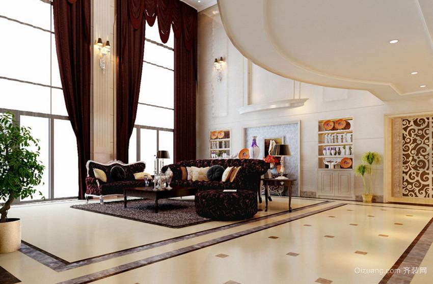 欧式别墅窗帘装修效果图欣赏