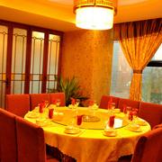 东南亚风格饭店包间飘窗装饰