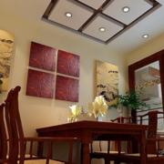 新中式简约餐厅吊顶