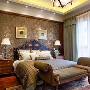 美式乡村风格卧室地板装饰