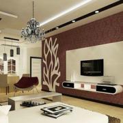 后现代风格简约客厅背景墙装饰