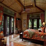 东南亚混搭风格房间床饰装饰
