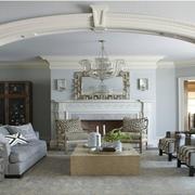 美式风格客厅拱形门装饰