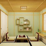 日式简约风格榻榻米置物架装饰