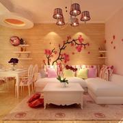 单身公寓甜美客厅茶几